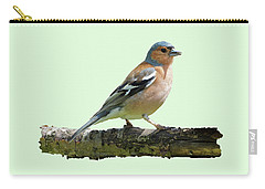 Male Chaffinch, Green Background Carry-all Pouch