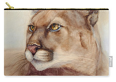 Male Cougar Carry-all Pouch by Bonnie Rinier