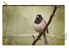 Male Dark-eyed Junco - 365-186 Carry-all Pouch by Inge Riis McDonald