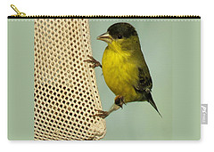 Male Goldfinch On Sock Feeder Carry-all Pouch
