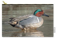 Male Green-winged Teal Dwf0171 Carry-all Pouch