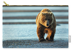 Male Grizzly At Low Tide Carry-all Pouch