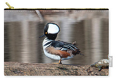 Male Hooded Merganser Dwf0166 Carry-all Pouch
