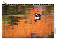 Male Hooded Merganser In Autumn Carry-all Pouch