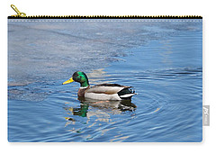 Carry-all Pouch featuring the photograph Male Mallard Duck by Michael Peychich