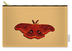 Carry-all Pouch featuring the photograph Male Moth Red .png by Al Powell Photography USA