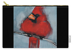 Male Northern Cardinal Carry-all Pouch