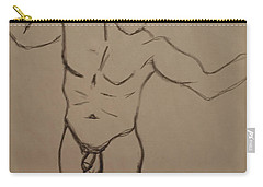 Male Nude Drawing 2 Carry-all Pouch