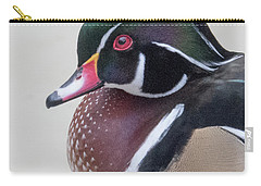 Male Wood Duck Head Carry-all Pouch
