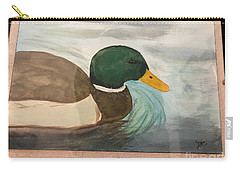 Carry-all Pouch featuring the painting Mallard by Donald Paczynski