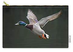 Mallard Drake In Flight Carry-all Pouch