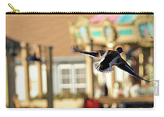 Mallard Duck And Carousel Carry-all Pouch by Geraldine Scull