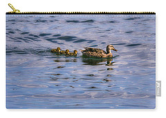 Mallard Duck And Ducklings Carry-all Pouch