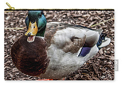 Carry-all Pouch featuring the photograph Mallard Duck by Joann Copeland-Paul