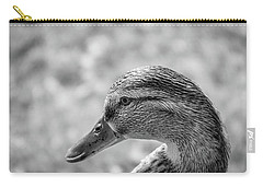 Mallard In Monochrome Carry-all Pouch