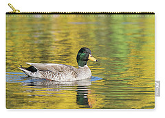 Mallard In Yellow Carry-all Pouch