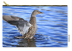 Mallard Wing Action Carry-all Pouch by Lynn Hopwood