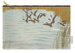 Mallards In Autumn Carry-all Pouch by Newell Convers Wyeth