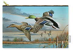 Mallards In Flight Carry-all Pouch