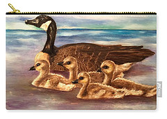 Mama And Ducklings Carry-all Pouch