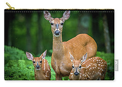 Mama And Fawns Carry-all Pouch