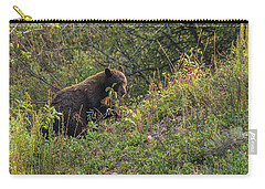 Carry-all Pouch featuring the photograph Mama Bear Loves Summer Berries by Yeates Photography