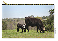 Mama Cow And Calf In Texas Pasture Carry-all Pouch