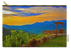Blue Ridge Sunset From Mama Gertie's Hideaway Carry-all Pouch