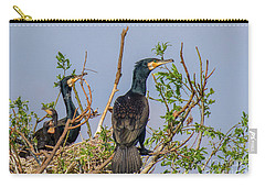 Mama, Papa And Kids - Danube Delta Carry-all Pouch by Jivko Nakev