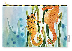 Mamma And Baby Seahorses Carry-all Pouch