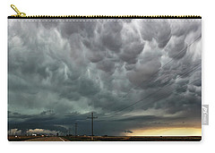 Carry-all Pouch featuring the photograph Mammatus Over Montata by Ryan Crouse