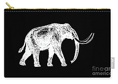 Mammoth White Ink Tee Carry-all Pouch by Edward Fielding