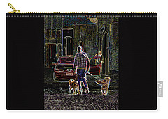 Carry-all Pouch featuring the photograph Man And Best Friends by Rhonda McDougall