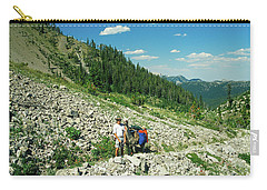 Man And Llama Packing Over A High Alpine Mountain Pass Carry-all Pouch by Jerry Voss
