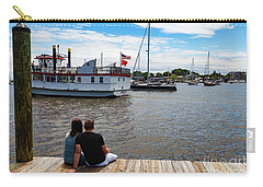 Man And Woman Sitting On The Dock Carry-all Pouch