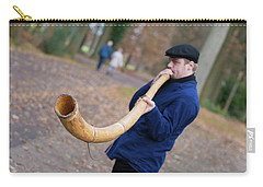Carry-all Pouch featuring the photograph Man Blowing Horn by Hans Engbers