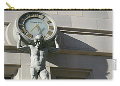Man Holding Up Time Carry-all Pouch
