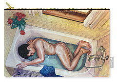 Man In Bathtub #3 Carry-all Pouch
