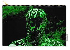Man In Green Carry-all Pouch
