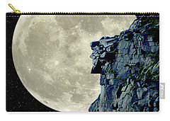 Man In The Moon Meets Old Man Of The Mountain Vertical Carry-all Pouch