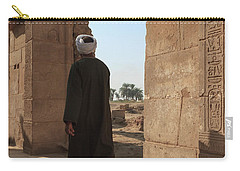 Carry-all Pouch featuring the photograph Man In The Temple by Silvia Bruno