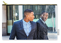 Man Looking At Mirror Carry-all Pouch