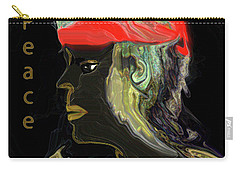 Carry-all Pouch featuring the digital art Man Of Peace by Sherri Of Palm Springs