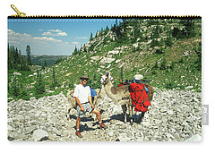 Man Posing With His Llama High Mountain Pass Carry-all Pouch by Jerry Voss