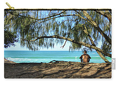 Man Relaxing At The Beach Carry-all Pouch