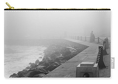 Man Waiting In Fog Carry-all Pouch