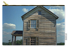 Carry-all Pouch featuring the photograph Manassas Battlefield Farmhouse by Frank Romeo
