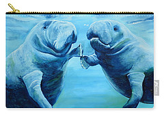 Manatees Socializing Carry-all Pouch
