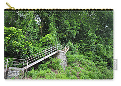 Manayunk - Steps From The Wissahickon Train Station Carry-all Pouch by Bill Cannon