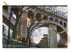 Manayunk - Towpath And Bridge Carry-all Pouch by Bill Cannon